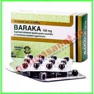 Baraka 100mg (Ulei Chimen negru) 24 capsule moi - Pharco Impex 93