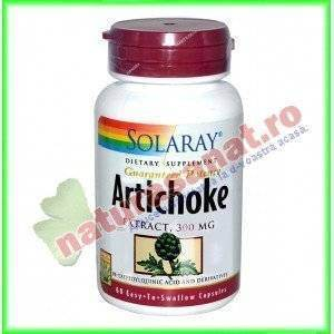 Artichoke Leaf Extract (Extract Anghinare) 300mg 60 capsule - Solaray - Secom