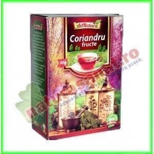Ceai Coriandru Fructe 50 g - Ad Natura