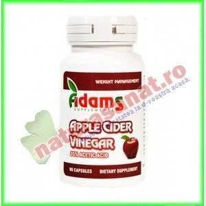 Apple Cider Vinegar (Otet de Cidru Mere) 90 capsule - Adams Vision