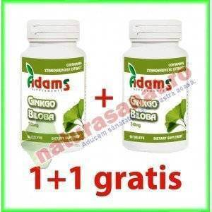 PROMOTIE Ginkgo Biloba 240mg 60 tablete 1+1 gratis - Adams Vision