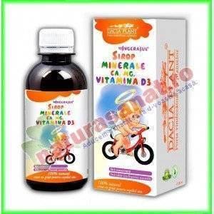 Sirop minerale, Calciu, Magneziu, Vitamina D3 200 ml Gama Ingeras - Dacia Plant