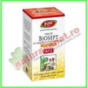 Biosept Sirop cu Miere si Vitamina C 100 ml - Fares Trading