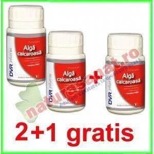 PROMOTIE Alga Calcaroasa 2+1 GRATIS 60 capsule - DVR Pharm