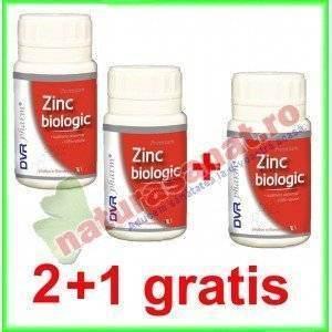 PROMOTIE Zinc Biologic 2+1 GRATIS ( din Drojdie de Bere ) 60 capsule - DVR Pharm