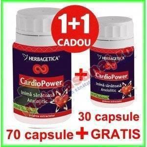 Cardio Power PROMOTIE 70+30 capsule GRATIS - Herbagetica