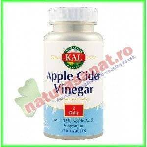 Apple Cider Vinegar ( Otet de Mere ) 500 mg 120 tablete ActivTab - KAL - Secom