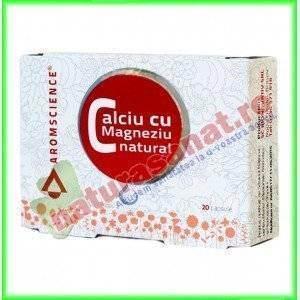 Calciu cu Magneziu Natural 20 capsule - Aromscience